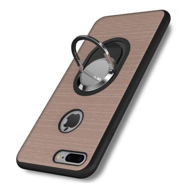 iPhone 7  PLUS- Stilrent Silikonskal med Ringhållare FLOVEME Ljusrosa