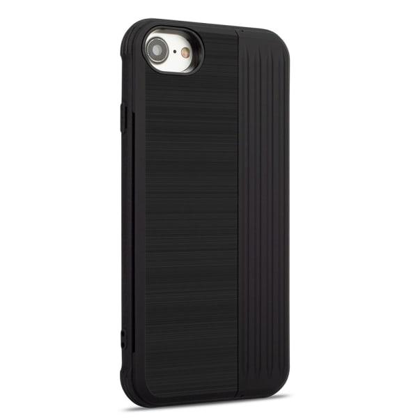 iPhone 8 - Stilrent Skal med kortplats och mobilställ Svart
