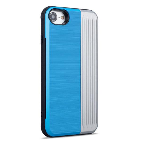 iPhone 8 - Genomtänkt skal med kortfack Blå