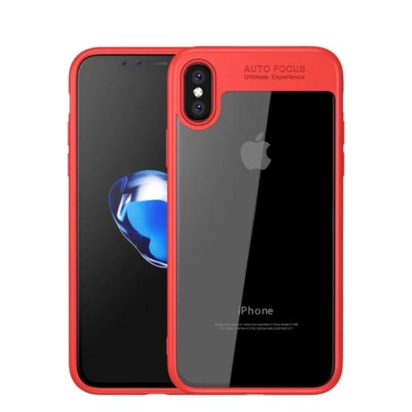 Skyddande Skal AUTO FOCUS för iPhone X/XS (NYHET) Röd
