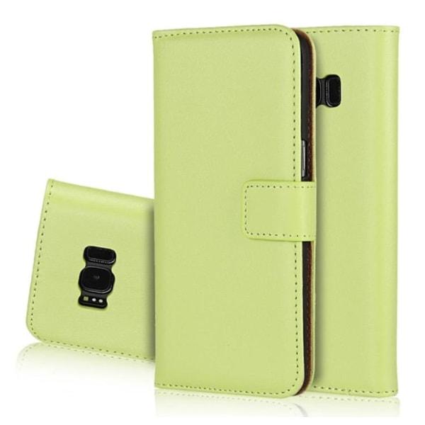 LEMAN Plånboksfodral (Läder) för Samsung Galaxy S7 Edge Svart