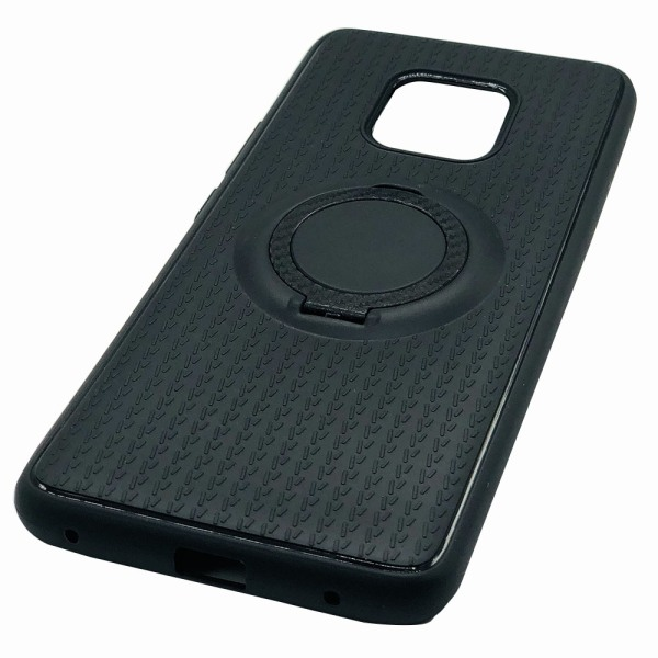 Stilrent Carbondesign skal med ringhållare Huawei Mate 20 Pro Rosaröd