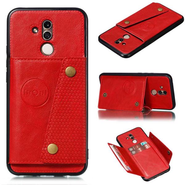 Skyddsskal med Kortfack - Huawei Mate 20 Lite Mörkblå