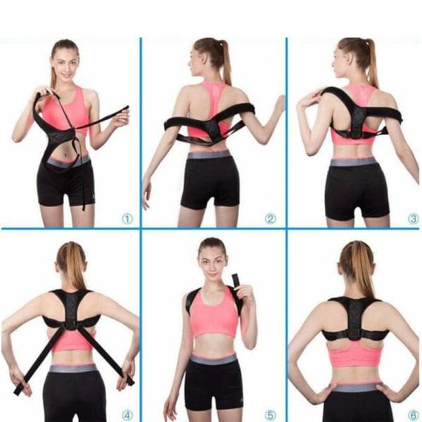 Ortopedisk Korsett för bättre hållning Svart Medium