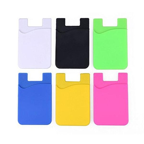 Praktiskt Självhäftande Korthållare för Mobiltelefoner Gul