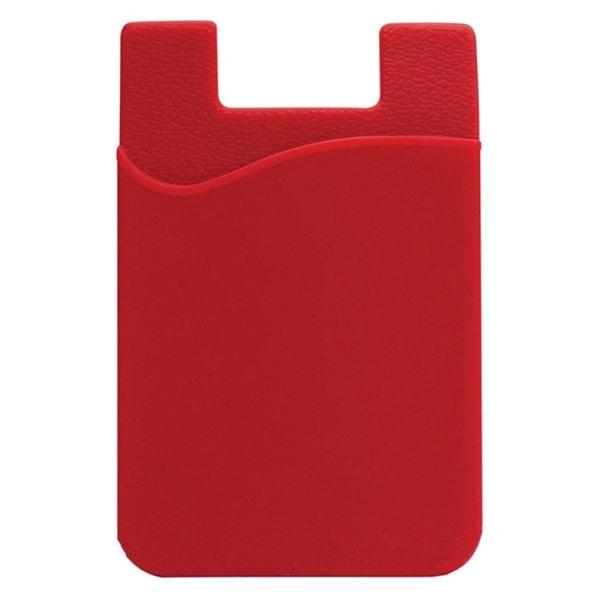 Praktiskt Självhäftande Korthållare för Mobiltelefoner Röd