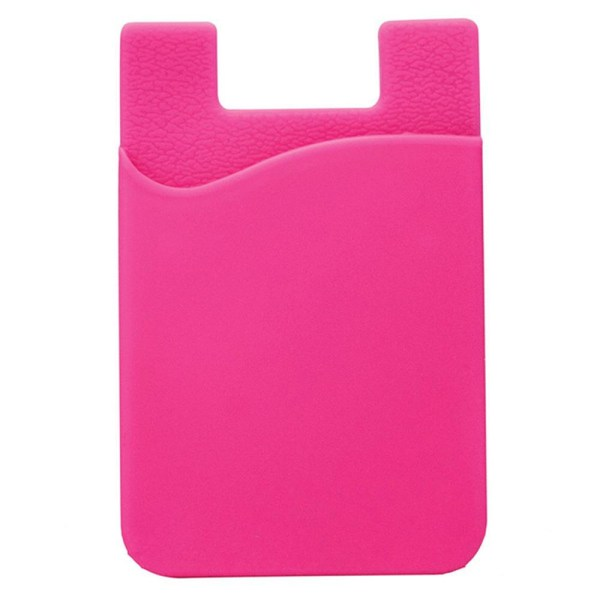 Praktiskt Självhäftande Korthållare för Mobiltelefoner Rosaröd