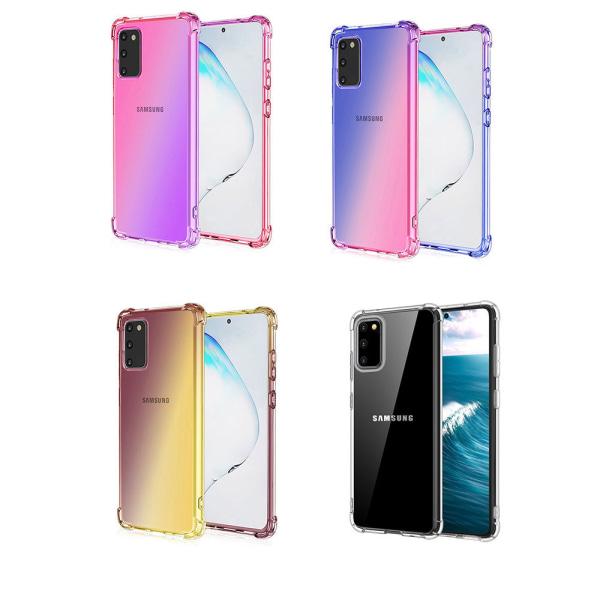 Elegant Stötdämpande Floveme Skal - Samsung Galaxy S20 Rosa/Lila