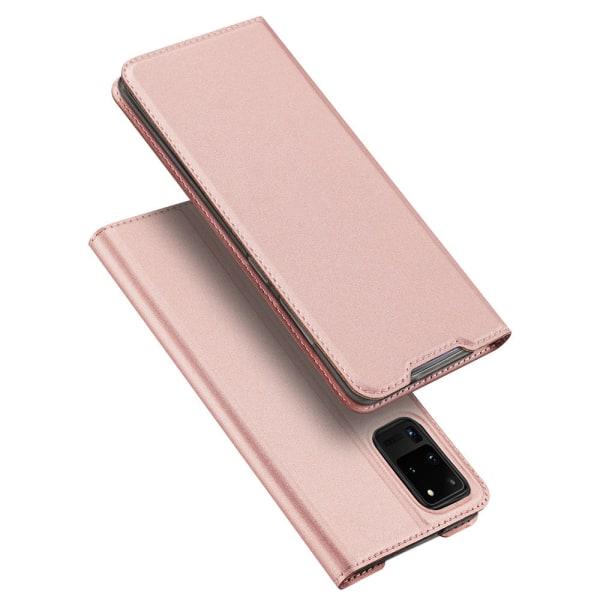 Samsung Galaxy S20 Ultra - Stilrent DUX DUCIS Plånboksfodral Roséguld