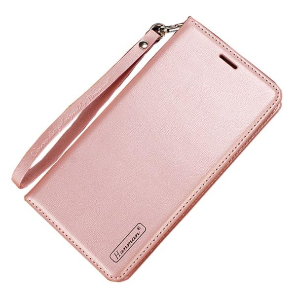 Elegant Plåboksfodral (HANMAN) - Samsung Galaxy A7 2018 Rosaröd