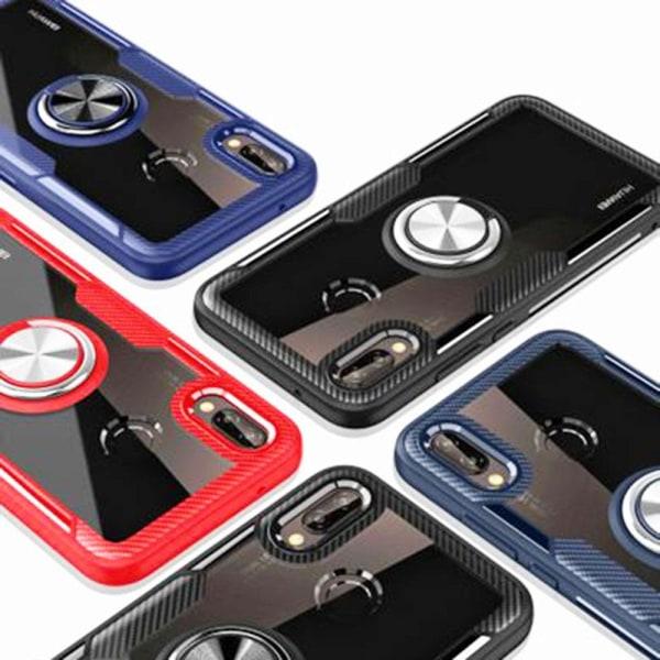 Samsung Galaxy A40 - Robust Skal med Ringhållare Leman Svart/Svart