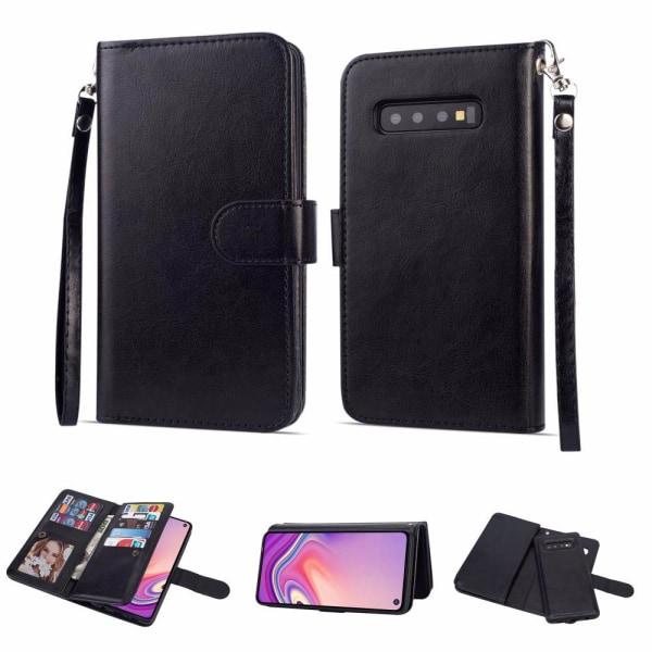 Samsung Galaxy S10+ - Professionellt 9-Korts Plånboksfodral Roséguld