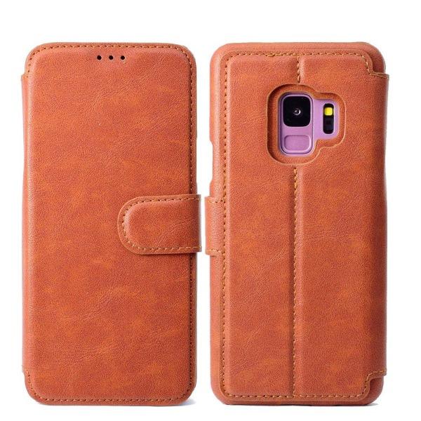 Samsung Galaxy S9+ - Praktiskt Plånboksfodral Brun