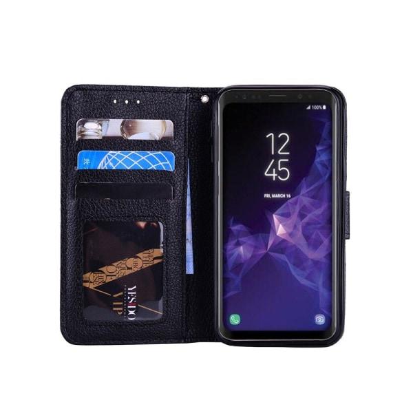 Samsung Galaxy S9+ - Smidigt Fodral med Plånbok Rosa