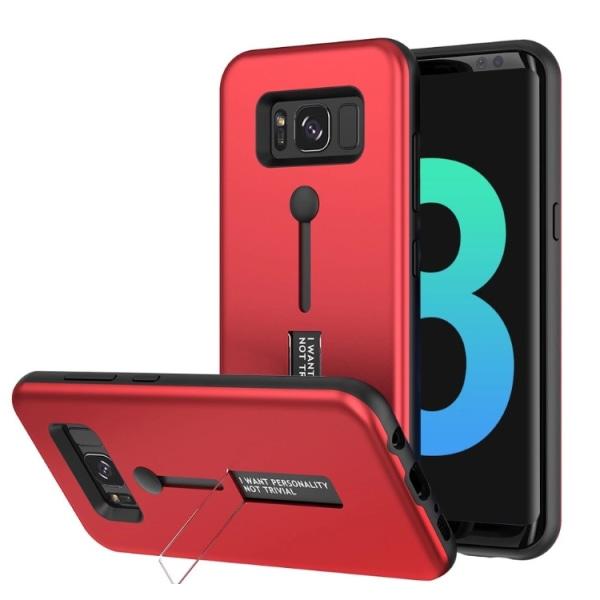 Samsung Galaxy S7 Kisscase-Skal med Hållarfunktion Röd