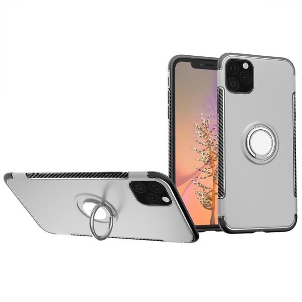 Skal med Ringhållare - iPhone 11 Silver
