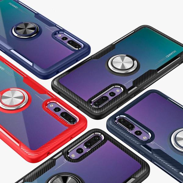 Skal med Ringhållare (LEMAN) - Huawei P20 Pro Marinblå/Silver