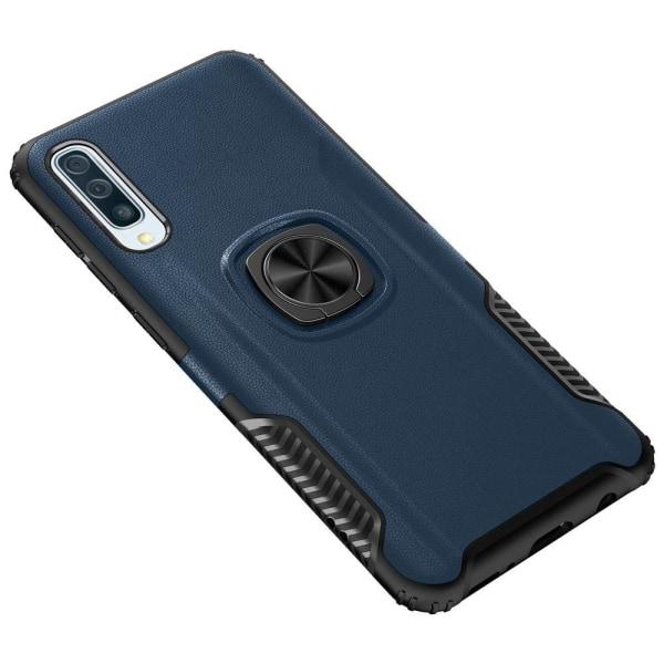 Skal med Ringhållare Leman - Samsung Galaxy A70 Blå