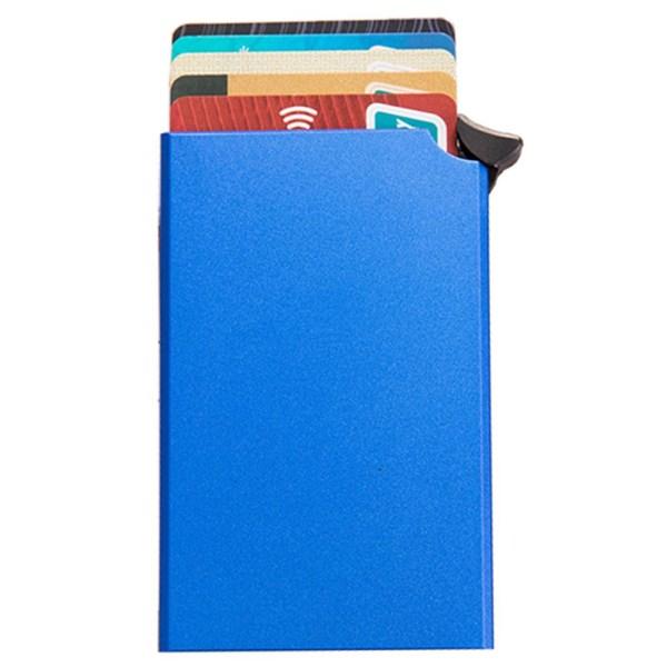 Stilren Smidig RFID-Skydd Korthållare Blå