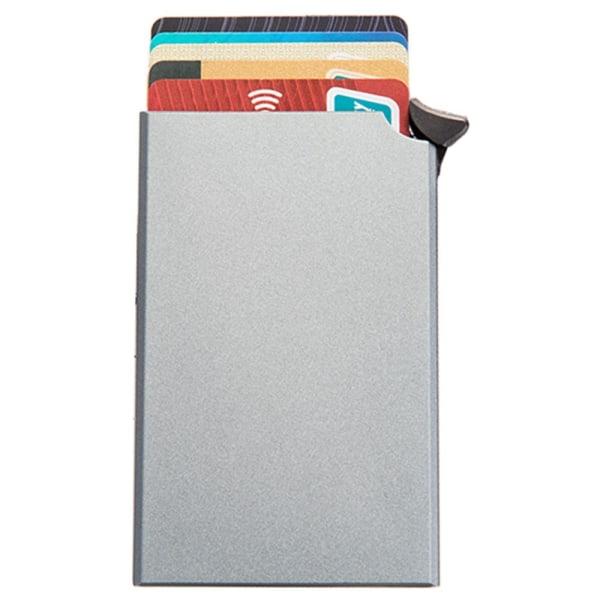 Stilren Smidig RFID-Skydd Korthållare Grå