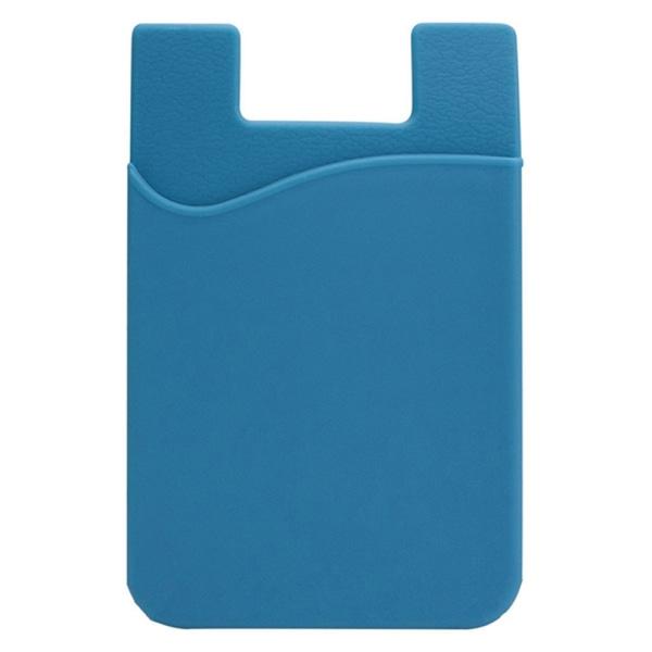 Praktiskt Självhäftande Korthållare för Mobiltelefoner Ljusblå