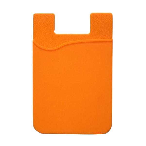 Praktiskt Självhäftande Korthållare för Mobiltelefoner Orange