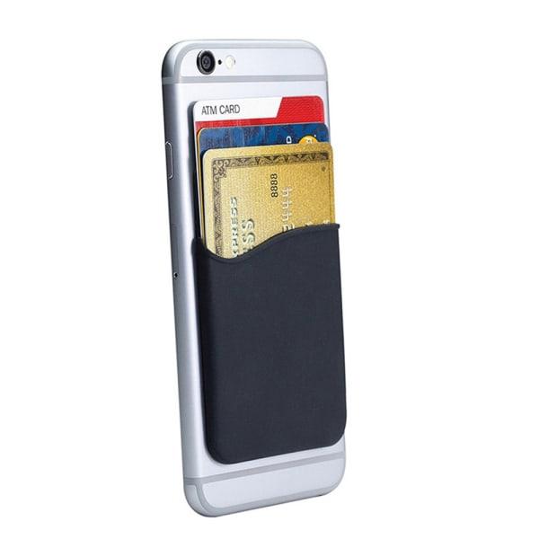 Praktiskt Självhäftande Korthållare för Mobiltelefoner Svart