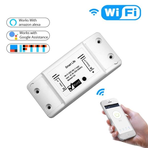 WiFi Smart Light Switch Universal Breaker Trådlös Fjärrkontroll Vit