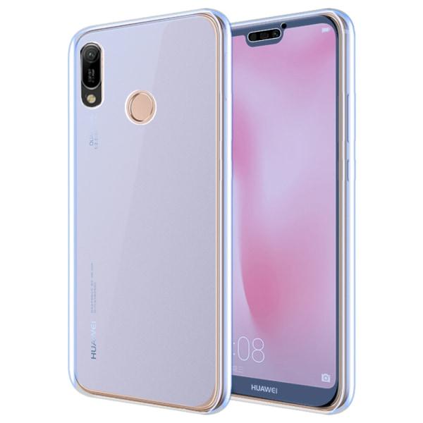 Huawei Y6 2019 - Skyddande Stilrent Dubbelsidigt Silikonskal Transparent/Genomskinlig