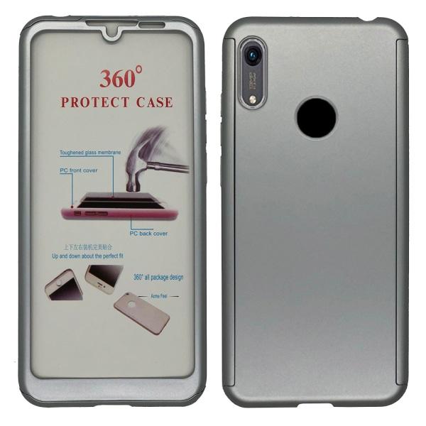 Huawei Y6 2019 - Skyddande Dubbelsidigt Skal FLOVEME Silver