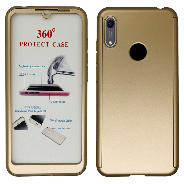 Exklusivt Smart Dubbelsidigt Skal - Huawei Y6 2019 Silver