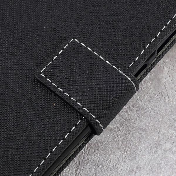 Asus Zenfone Live - Cross Texture Plånboksfodral - Svart Svart