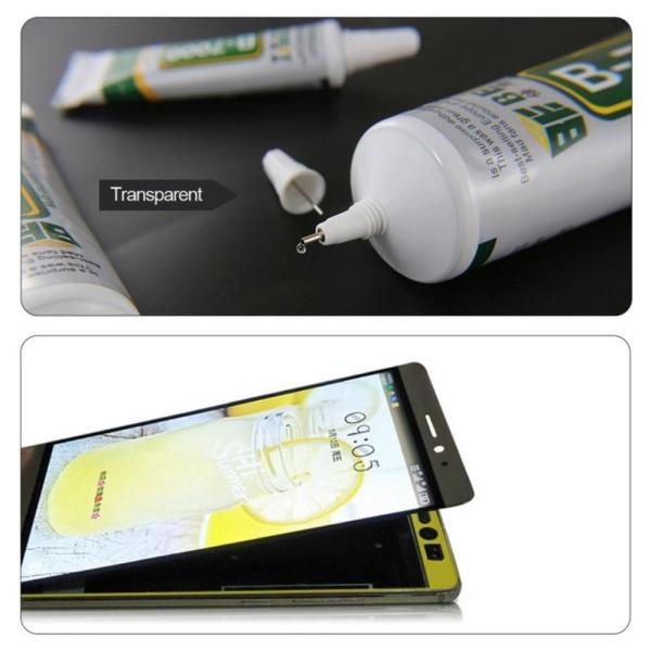 B-7000 Lim Multianvändning glas sten trä LCD 110ml Transparent