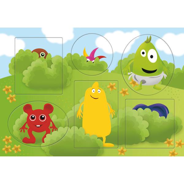 BABBLARNA TittutPussel 6 figurer multifärg