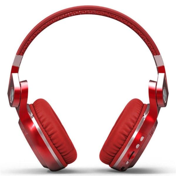 Bluedio T2+ Trådlös Bluetooth Stereo hörlurar / headset - Röd Röd