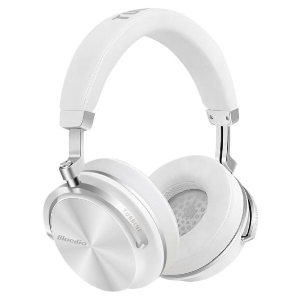 Bluedio T4S Trådlös Bluetooth Stereo hörlurar Active Noise-cance Vit