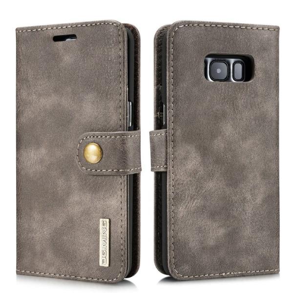 DG.MING Samsung Galaxy S8 Plus Split Läder Plånboksfodral - Coff