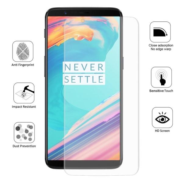 HAT PRINCE Curved PET Skärmskydd till OnePlus 5T Transparent
