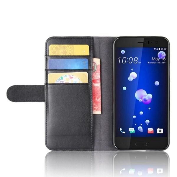 HTC U11 Plånboksfodral Retro SVART Svart