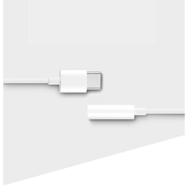 HUAWEI CM20 USB-C till 3.5mm Audio Adapter Vit