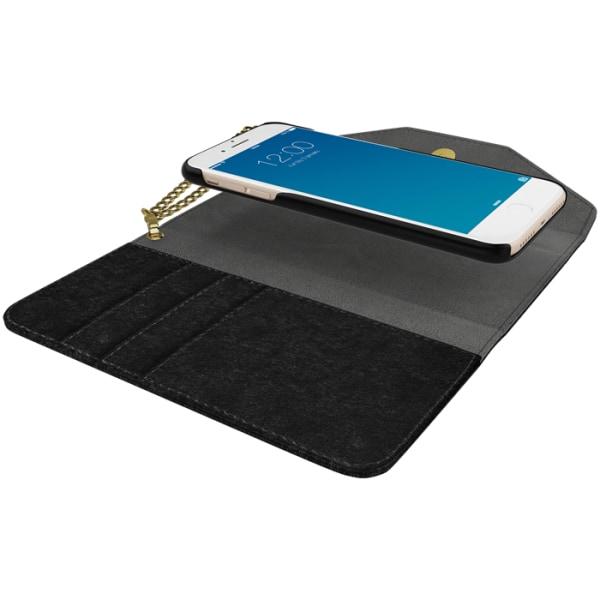 iDeal of Sweden Mayfair Clutch Velvet till iPhone 8 Plus - Svart Svart