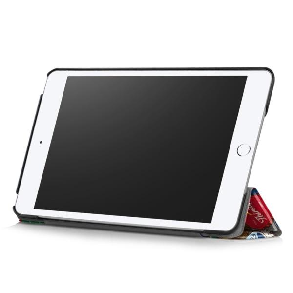 iPad Mini 2019 / Mini 4 Slim fit tri-fold fodral - Colorful Lid Svart