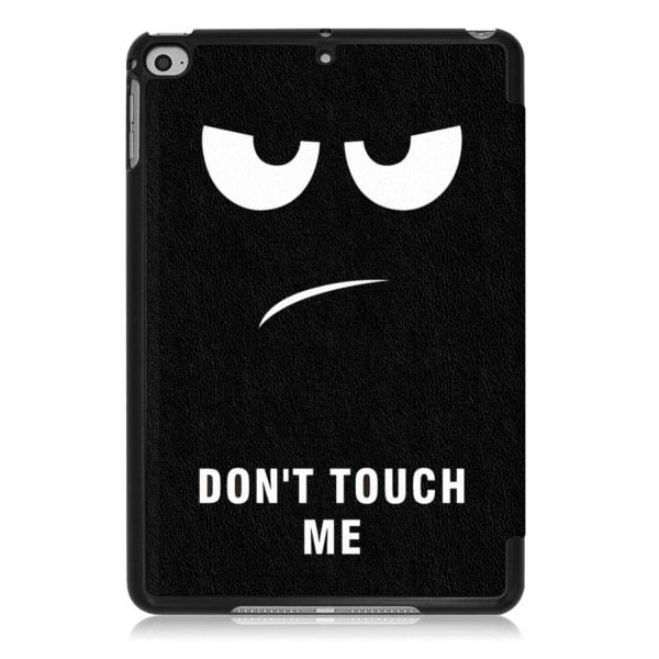 iPad Mini 2019 / Mini 4 Slim fit tri-fold fodral - Do Not Touch Svart
