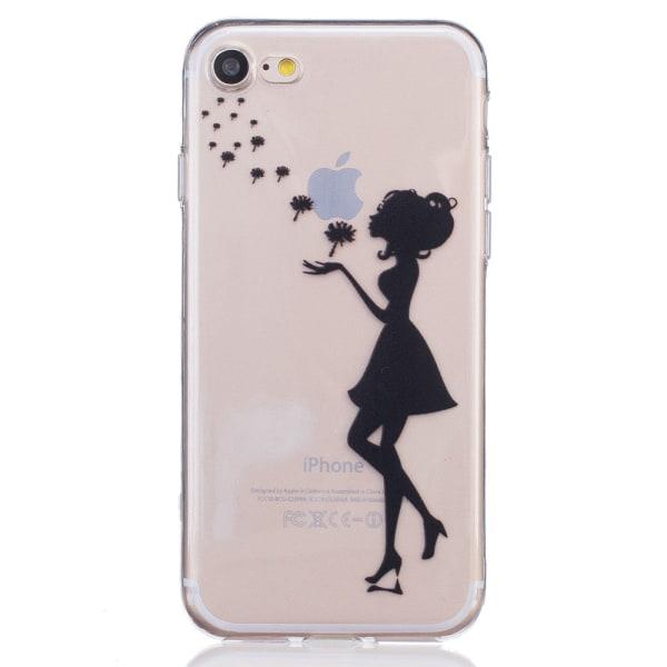 iPhone 7 / iPhone 8 TPU Skal - Girl and Dandelion