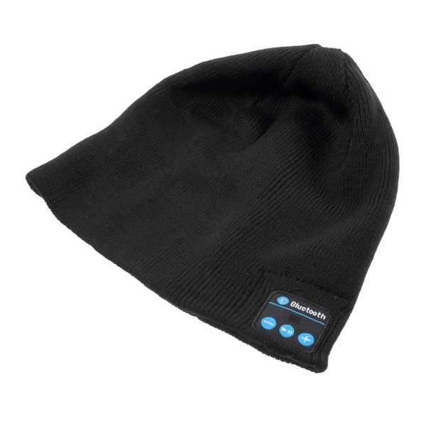 Kit med Bluetooth Mössa och Touch Vantar Svart
