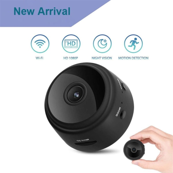 Mini Spy Camera Wireless Wifi IP Home Security Cam HD 1080P Svart