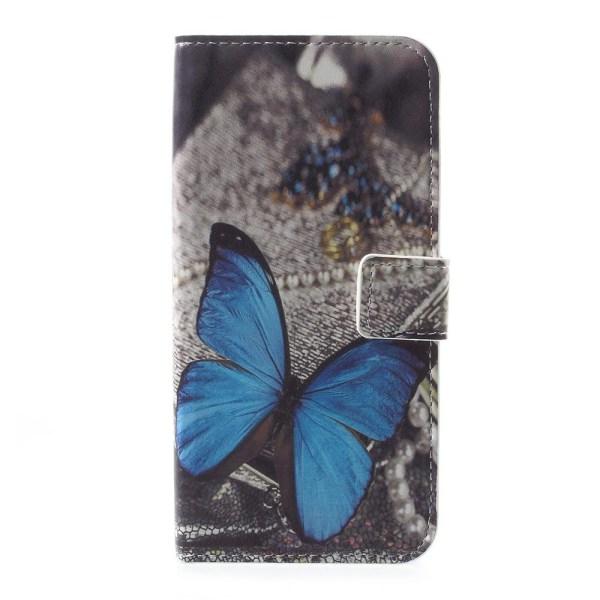 Motorola Moto E4 Plånboksfodral  - Blue Butterfly Blå