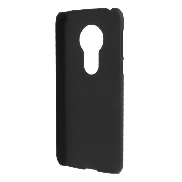 Motorola Moto G7 Play Skal Plastskal Rubberized - Svart Svart