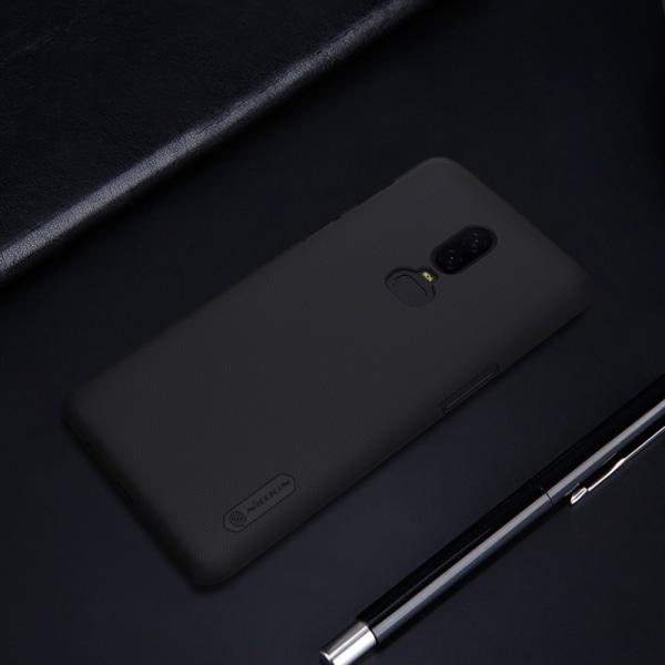NILLKIN OnePlus 6 Frostat skal hårt - Svart Svart