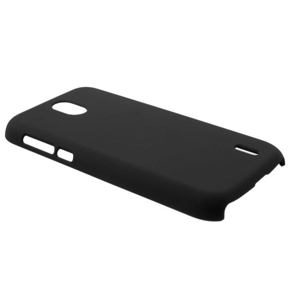 Nokia 1 Rubberized Hård Plast Skal - Svart Svart